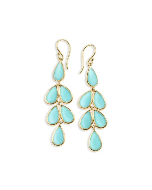 Ippolita | Blue 18k Rock Candy Turquoise Teardrop Earrings | Lyst