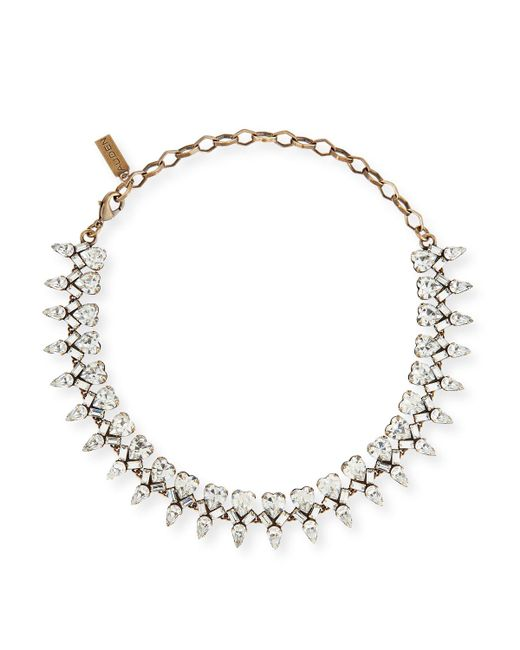 Auden - Multicolor Arya Clear Crystal Statement Necklace - Lyst
