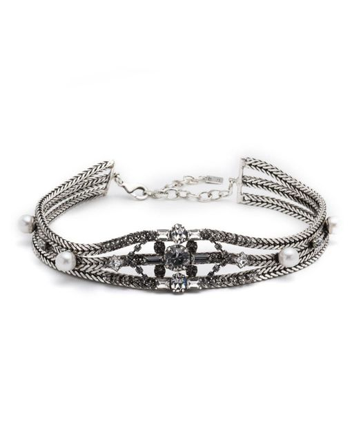 DANNIJO   Metallic Augere Crystal Choker Necklace   Lyst