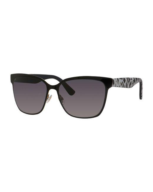 Jimmy Choo   Black Kiera Mirror Logo-temple Sunglasses   Lyst