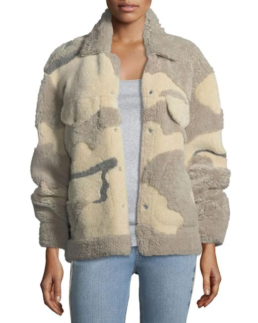 Rag & Bone | Natural Jake Shearling Camouflage Jacket | Lyst