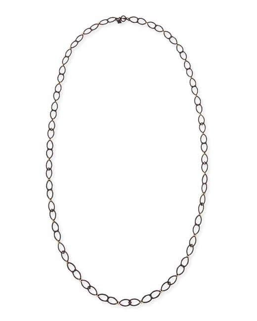 Armenta - Metallic Old World Open Shield Link Necklace - Lyst