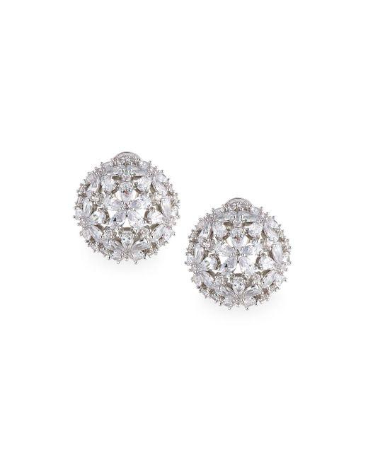 Fallon | Multicolor Monarch Florette Crystal Button Earrings | Lyst