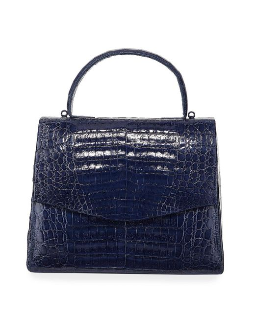 45470c70dee7 Nancy Gonzalez - Blue Lolita Small Crocodile Top-handle Bag - Lyst ...