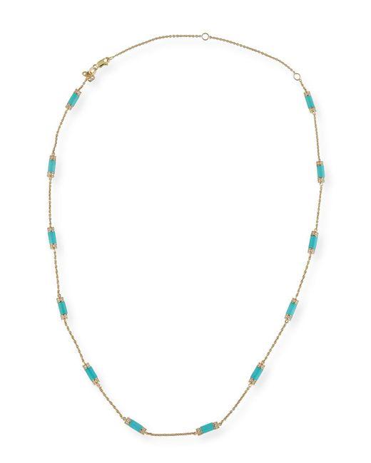 Sydney Evan - Metallic Turquoise Bar Station Necklace With Diamonds - Lyst
