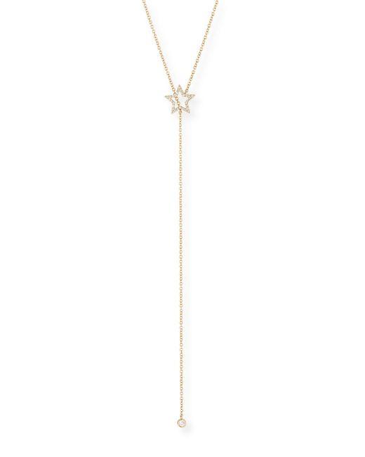 EF Collection - Metallic 14k Diamond Open Star Lariat Necklace - Lyst