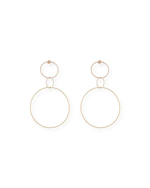 Lana Jewelry - Multicolor 14k Triple Hoop Dangle Earrings - Lyst
