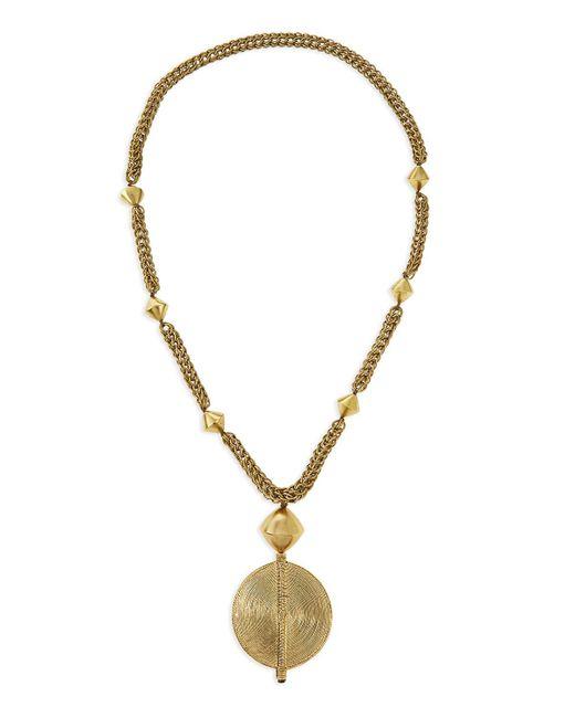 Nest   Metallic Brass Medallion Long Chain Necklace   Lyst