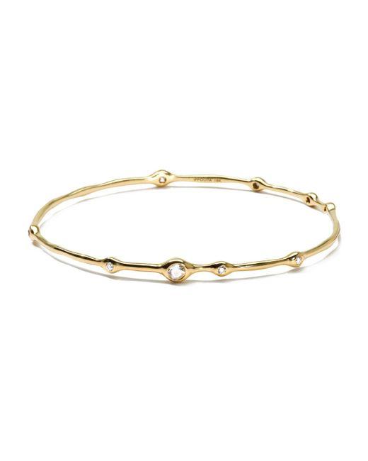 Ippolita - Metallic 18k Gold 9-diamond Bangle (0.5ctw) - Lyst