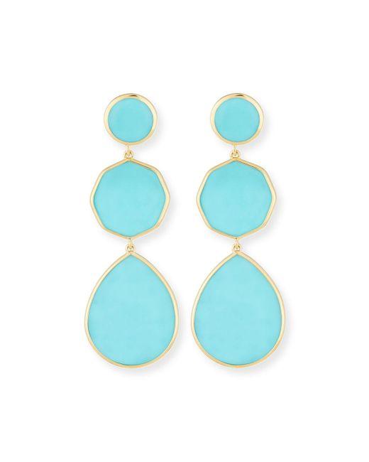 Ippolita - Blue 18k Gelato Crazy-eight Earrings In Turquoise - Lyst