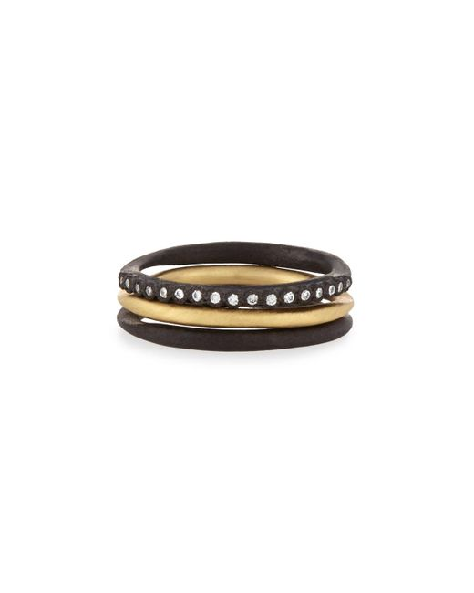 Armenta - Metallic Old World Midnight Stacking Rings - Lyst
