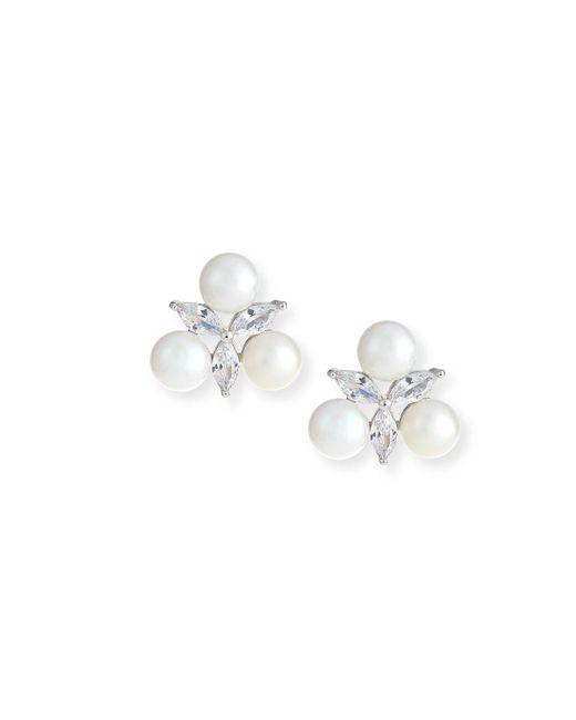 Fallon | Metallic Monarch Pearly Starburst Crystal Earrings | Lyst
