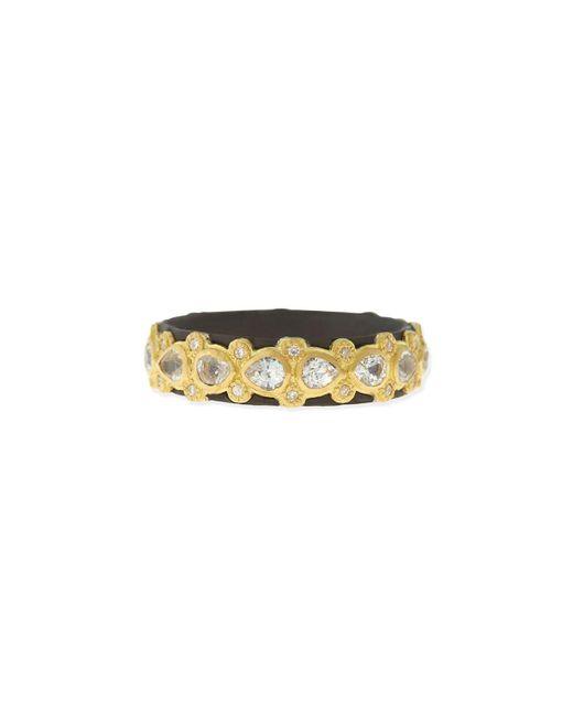 Armenta   Metallic Pear Sapphire & Diamond Band Ring   Lyst