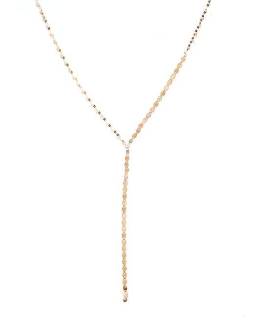 Lana Jewelry - Metallic Nude Lariat Disc Necklace - Lyst