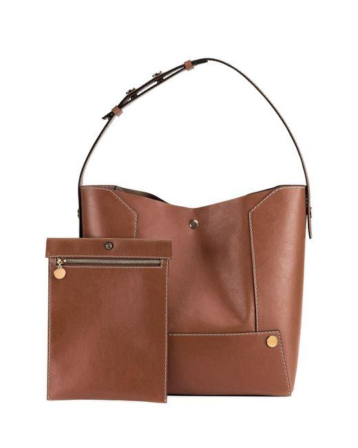 Stella McCartney | Brown Faux-leather Bucket Bag | Lyst
