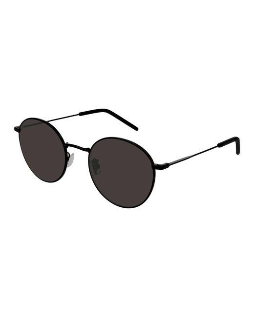 4b9be8a868 Lyst - Saint Laurent Men s Round Metal Sunglasses in Black for Men