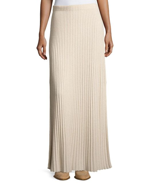 Elizabeth and James - Natural Joelle Rib-knit Column Maxi Skirt - Lyst