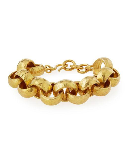 Ashley Pittman - Metallic Usawa Hammered Bronze Bracelet - Lyst