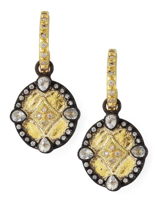 Armenta | Metallic Shield Drop Earrings | Lyst