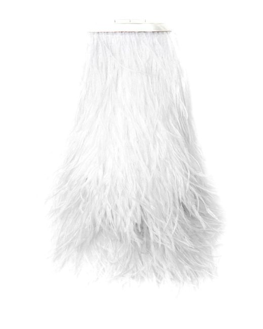 Marzook - White Feather Capsule Minaudiere - Lyst