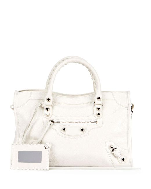 Balenciaga - White Classic City Nickel Small Tote Bag - Lyst