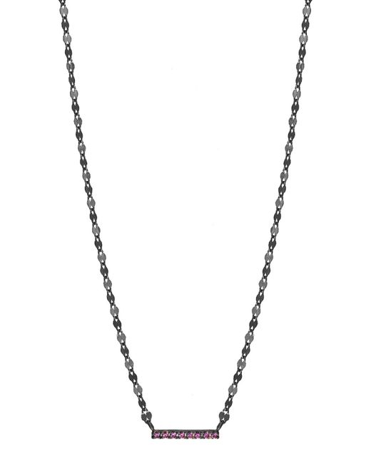 Lana Jewelry   Metallic Electric Pink Sapphire Mini Bar Pendant Necklace   Lyst