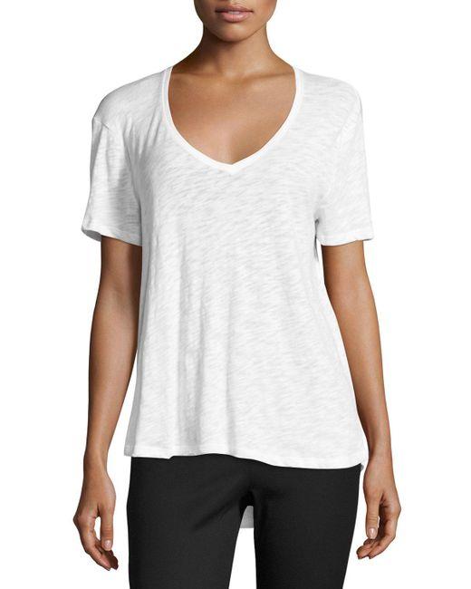 ATM | Black Fluid Cotton Jersey Tee | Lyst