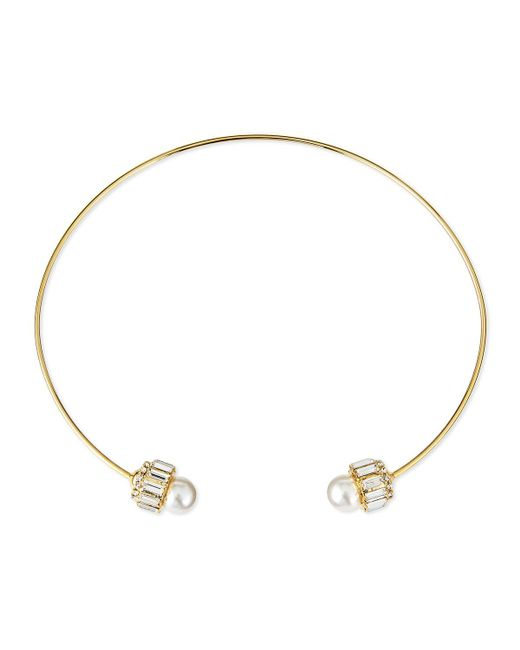 Auden | Metallic Lana Pearly Crystal Collar Necklace | Lyst