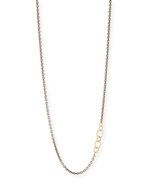 Armenta   Metallic Old World Blackened Chain Necklace With Champagne Diamonds   Lyst