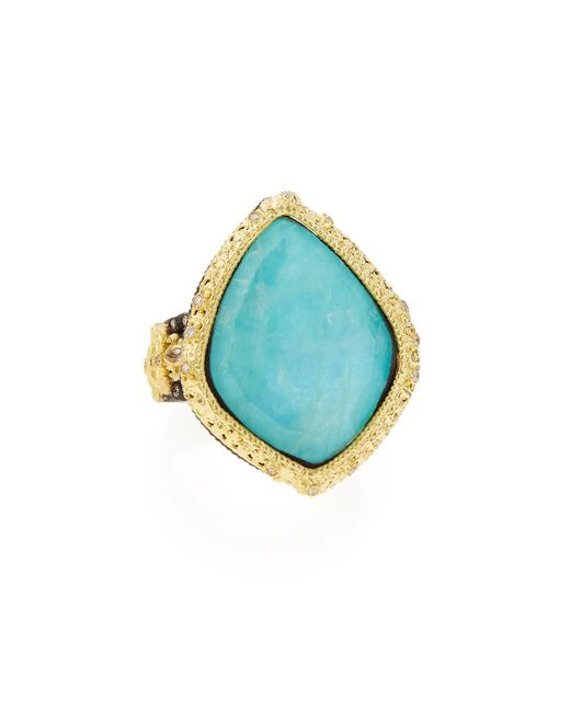 Armenta | Old World Blue Turquoise & Diamond Ring | Lyst
