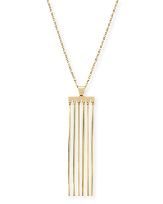 Chloé | Metallic Frances Pendant Necklace | Lyst