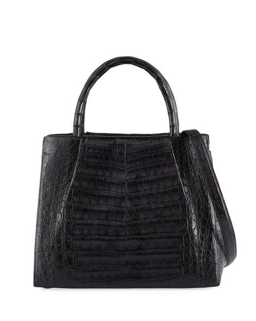 Nancy Gonzalez - Black Small Crocodile Carryall Tote Bag - Lyst