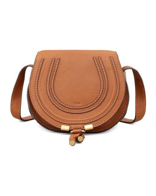 Chloé | Brown Marcie Small Leather Cross-Body Bag | Lyst
