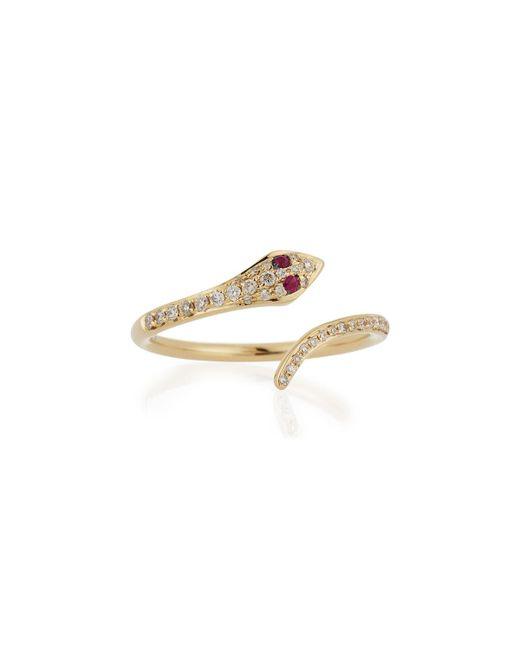 EF Collection   Metallic Diamond Snake Ring   Lyst
