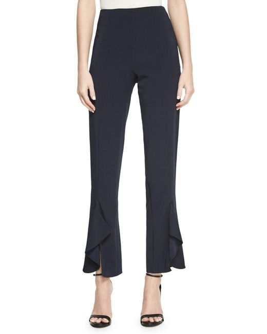 Cushnie et Ochs | Blue Julianne Tailored Skinny Ruffle-hem Pants | Lyst
