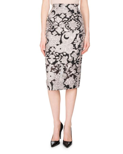 Roland Mouret | Black Norley Brocade Fil Coupe Skirt | Lyst
