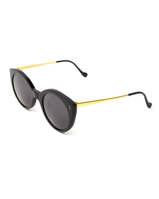 Illesteva - Black Acetate & Steel Cat-eye Sunglasses - Lyst