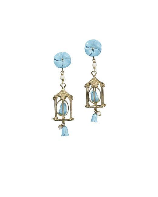 Of Rare Origin | Blue Pagoda Turquoise Drop Earrings | Lyst
