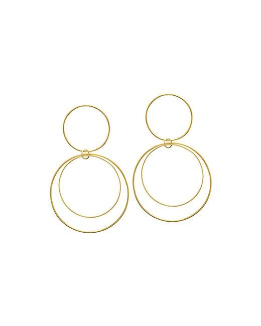 Lana Jewelry - Metallic Two-tiered 14k Gold Flat Circle Earrings - Lyst