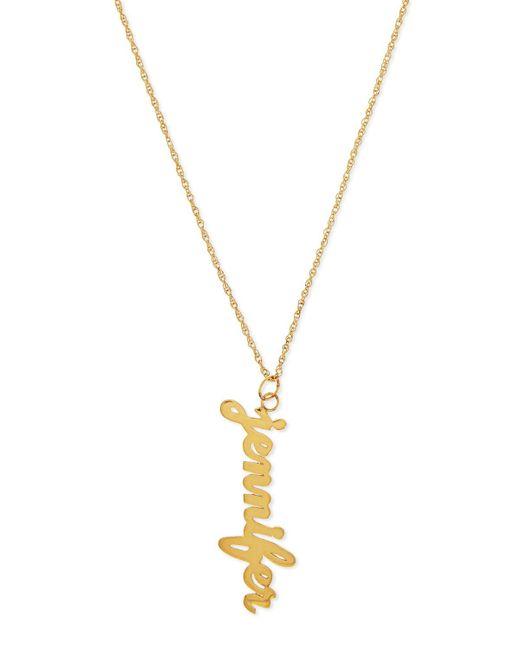 Jennifer Zeuner | Metallic Serafina Vertical Gold Vermeil Necklace | Lyst