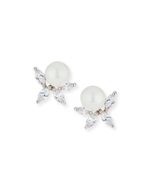 Fallon - Metallic Monarch Pearly Cluster Earrings - Lyst