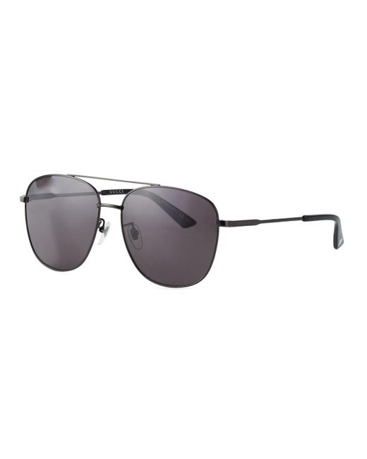 1873eae9df Gucci - Black Men s GG0410SK001M Aviator Sunglasses for Men - Lyst ...