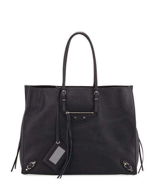 Balenciaga - Black Papier A4 Zip-around Tote Bag - Lyst