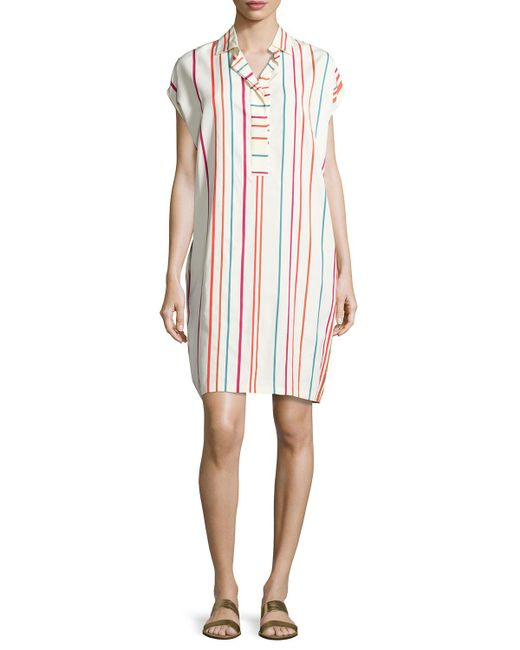 Loro Piana | Multicolor April Santa Cruz Striped Shirtdress | Lyst