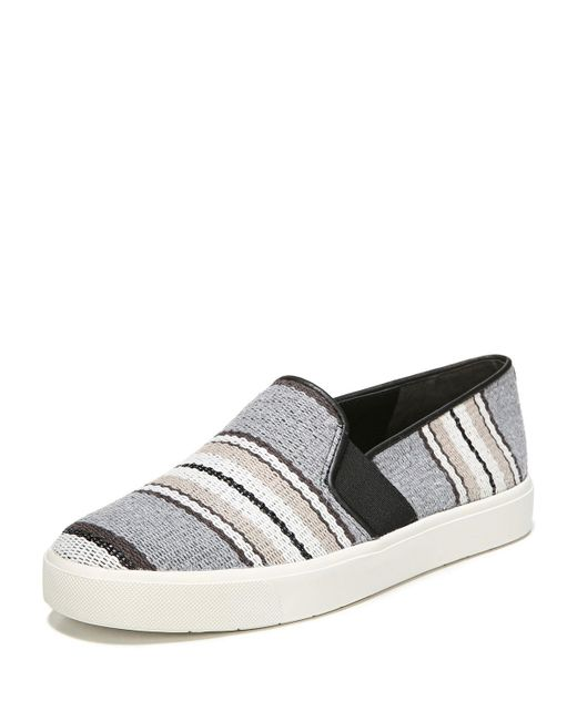 Vince - Multicolor Blair Striped Fabric Sneakers - Lyst