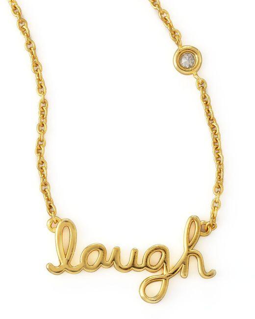 Shy By Sydney Evan   Metallic Laugh Pendant Bezel Diamond Necklace   Lyst
