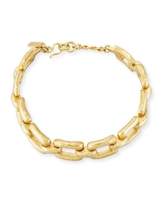 Ashley Pittman - Metallic Bila Hammered Bronze Link Choker Necklace - Lyst