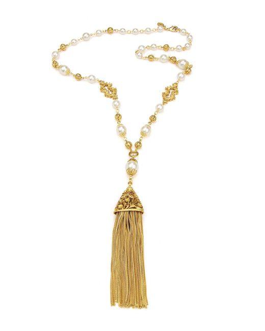 Ben-Amun - Metallic Chain Tassel Pendant Necklace - Lyst