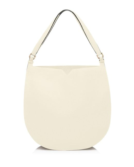 Valextra | Natural Weekend Leather Hobo Bag | Lyst