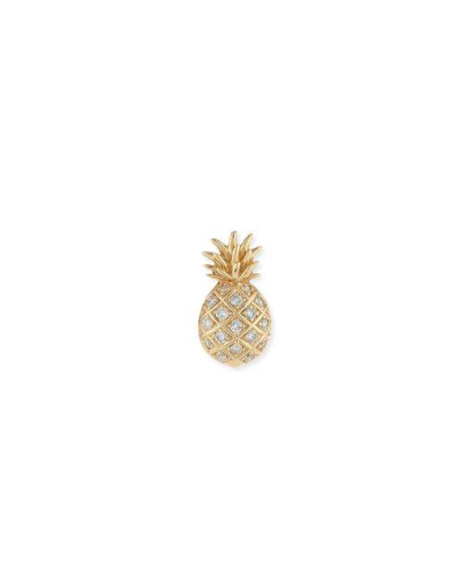 Sydney Evan - Metallic Pavé Diamond Pineapple Single Stud Earring - Lyst